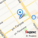 А.Автомойка на карте Барнаула