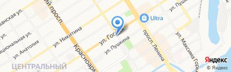 Тепловодоприбор на карте Барнаула