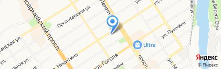 Молочная кухня Поликлиника на карте Барнаула