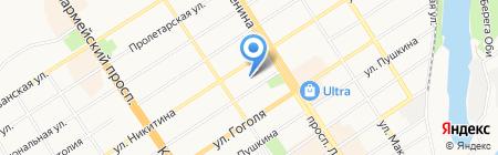 Комитет по социальной поддержке населения г. Барнаула на карте Барнаула