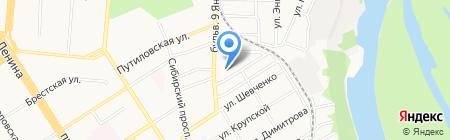 Краевая лизинговая компания на карте Барнаула