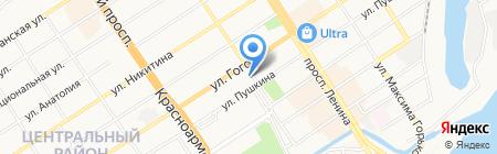 Дорожное радио на карте Барнаула