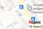 Схема проезда до компании Визус в Барнауле