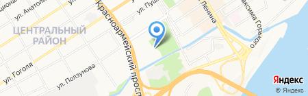 Паркинс на карте Барнаула