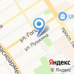 Союз строителей Западной Сибири на карте Барнаула