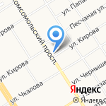 Компания Оргтехсервис на карте Барнаула