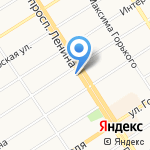 Краевой комитет профсоюза работников текстильной и легкой промышленности на карте Барнаула