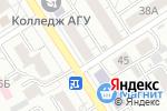 Схема проезда до компании Оргтехсервис в Барнауле