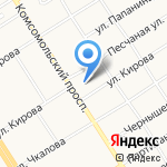 Смайл на карте Барнаула
