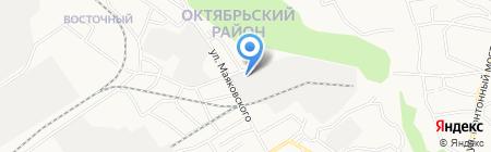 Акцент-Восточный на карте Барнаула