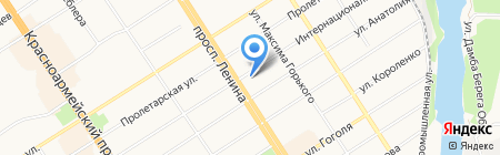 Диван lounge на карте Барнаула