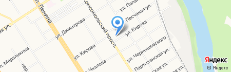 Юнона-Лир на карте Барнаула