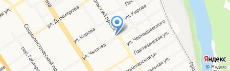 Здравствуй на карте Барнаула