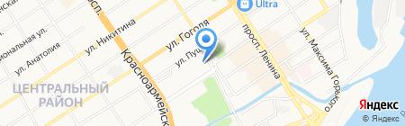 Титул на карте Барнаула
