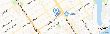 Морена-М на карте Барнаула
