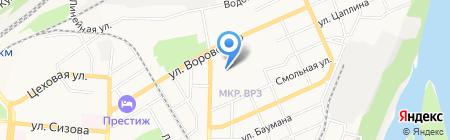 Детский сад №213 на карте Барнаула
