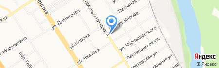 Экском на карте Барнаула