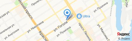 РК-Сибирь на карте Барнаула