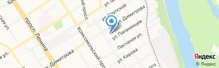 Фильтерра на карте Барнаула