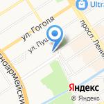 Старый город на карте Барнаула