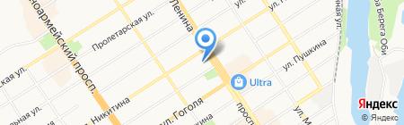 МОНРО на карте Барнаула