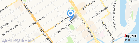 Дом рекламы на карте Барнаула