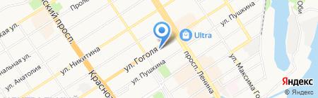 Юридический кабинет Астаниной Н.А. на карте Барнаула
