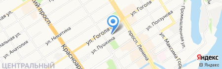 Мед-Ок на карте Барнаула