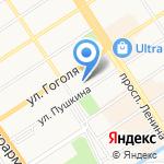 Бизнес-Фарватер на карте Барнаула