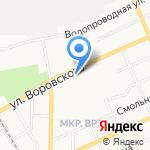 Алтайская общеобразовательная школа №2 на карте Барнаула