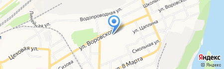 Специальная коррекционная общеобразовательная школа III-IV вида на карте Барнаула