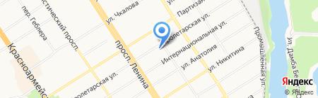 Отдел водных ресурсов по Алтайскому краю Верхне-Обского бассейнового водного Управления на карте Барнаула