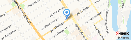Комитет по делам молодежи Администрации г. Барнаула на карте Барнаула