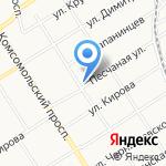 Банька на Песчаной на карте Барнаула