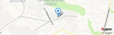 Русич на карте Барнаула