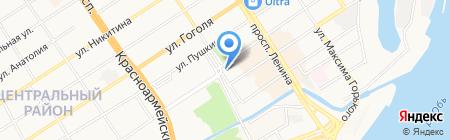 Иланд на карте Барнаула