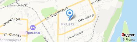 Средняя общеобразовательная школа №70 на карте Барнаула
