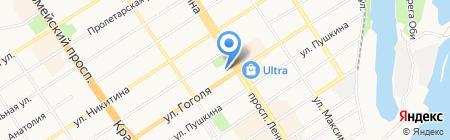 АлтайГазИнвестСтрой на карте Барнаула