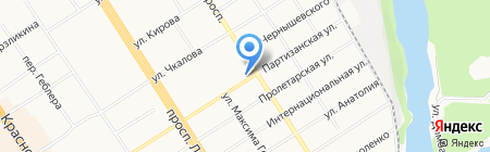 Банкомат КБ ФорБанк на карте Барнаула
