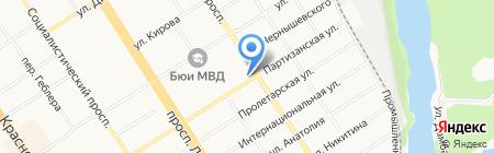 Сбербанк России на карте Барнаула
