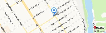 АМАРЕ БАНЬО на карте Барнаула
