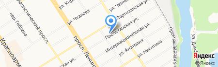 Ирис на карте Барнаула