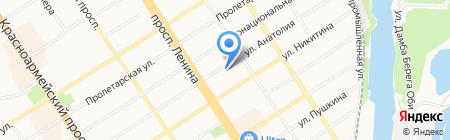 Орхидея на карте Барнаула