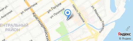 Веломир на карте Барнаула