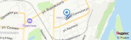 Плайм на карте Барнаула