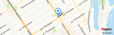 Дворец бракосочетания на карте Барнаула
