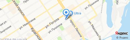 Омега на карте Барнаула