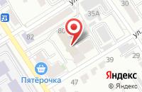 Схема проезда до компании Ритм в Барнауле