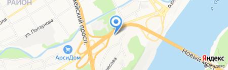 BMW на карте Барнаула