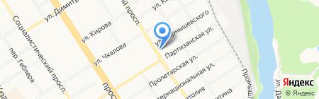 Открытая сменная общеобразовательная школа №6 на карте Барнаула